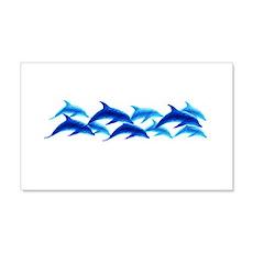 dancing dolphins 20x12 Wall Peel