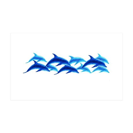 dancing dolphins 35x21 Wall Peel