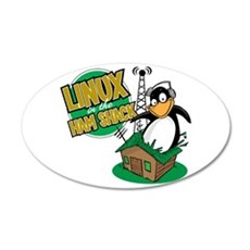 Linux in the Ham Shack 20x12 Oval Wall Peel