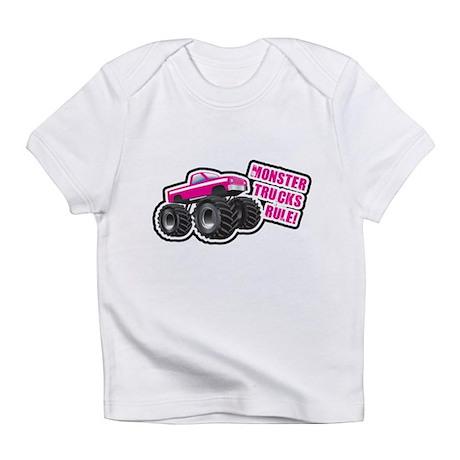 Pink Monster Truck Infant T-Shirt