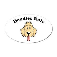 Doodles Rule 20x12 Oval Wall Peel