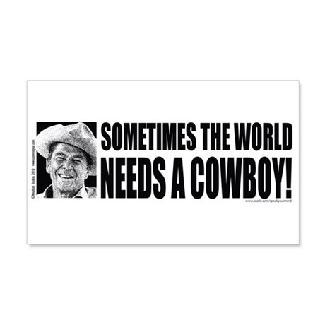 Sometimes the World Needs a Cowboy Sticker (Rectan