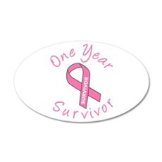 One Year Survivor 20x12 Oval Wall Peel