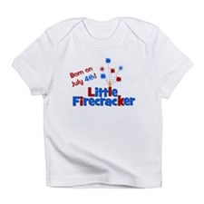 Born on July 4th Little Firec Infant T-Shirt
