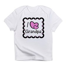 I Love Grandpa Pink Hearts Baby/Toddler Infant T-S