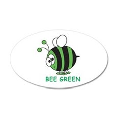 Bee Green 35x21 Oval Wall Peel