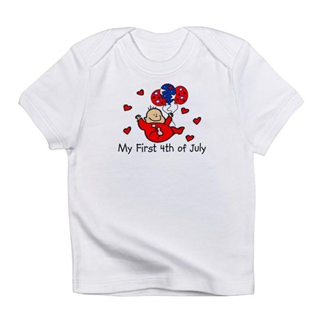1st 4th of July Baby RED Babys Infant T-Shirt