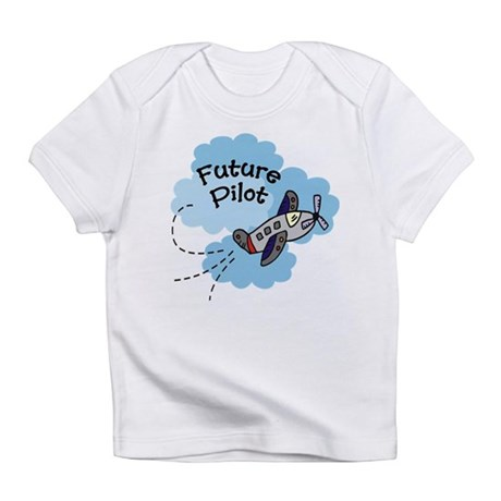 Future Pilot Airplane Cute Boy Baby Infant T-Shirt