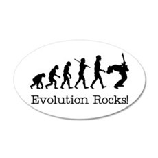 Evolution Rocks 20x12 Oval Wall Peel