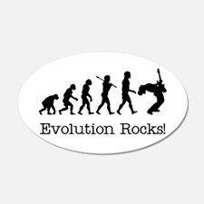 Evolution Rocks 20x12 Oval Wall Peel