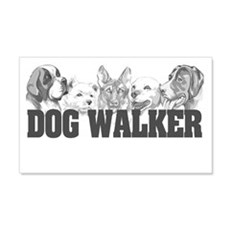 Dog Walker 20x12 Wall Peel