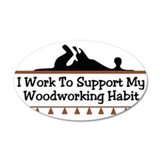 Work to support habit 20x12 Oval Wall Peel