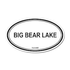 Big Bear Lake oval 20x12 Oval Wall Peel