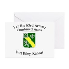 1st Bn 63rd Armor Greeting Cards (Pk of 10)