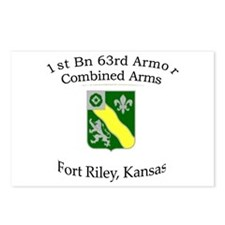 1st Bn 63rd Armor Postcards (Package of 8)