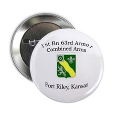 "1st Bn 63rd Armor 2.25"" Button"