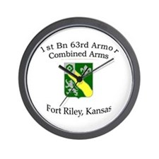 1st Bn 63rd Armor Wall Clock