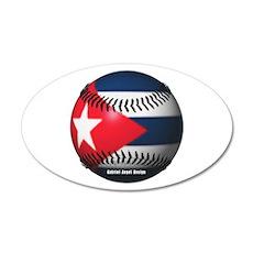 Cuban Baseball 20x12 Oval Wall Peel