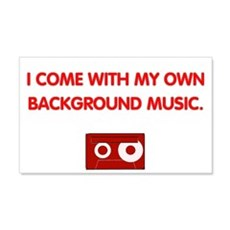 Background Music (red) 20x12 Wall Peel