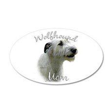 Wolfhound Mom2 20x12 Oval Wall Peel