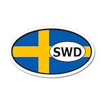 Sweden Flag 20x12 Oval Wall Peel