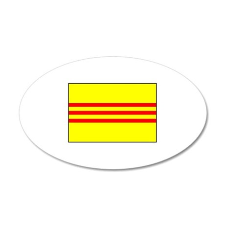 South Vietnamese Flag 35x21 Oval Wall Peel