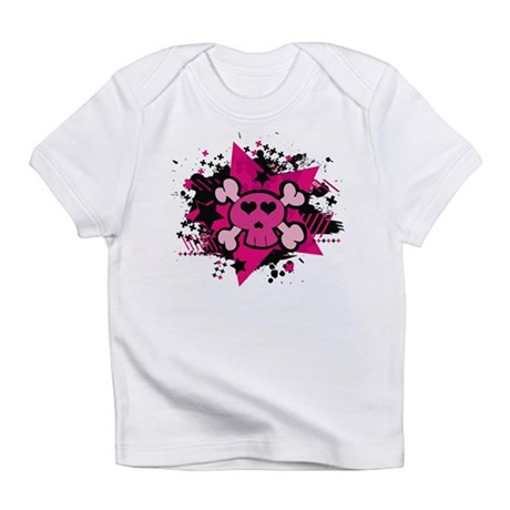 Pink Starry Love Skull Infant T-Shirt