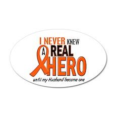 Never Knew A Hero 2 ORANGE (Husband) Sticker (Oval