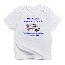 Ambulance Saves Lives-Aunt Infant T-Shirt