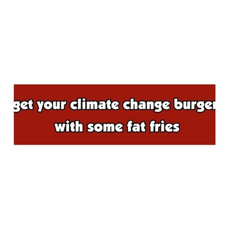 Climate Change Burger 36x11 Wall Peel