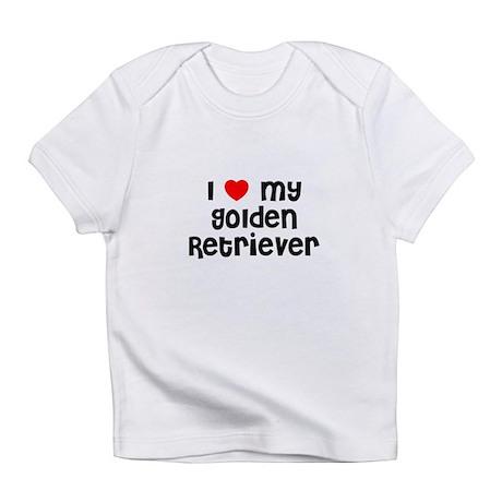 I * my Golden Retriever Creeper Infant T-Shirt