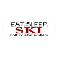 Eat Sleep Ski 36x11 Wall Peel