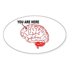 You Are Here! Oval Decal