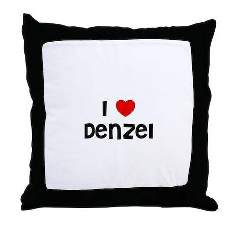 I * Denzel Throw Pillow