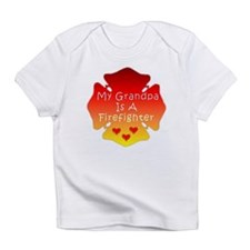 My Grandpa Is A Firefighter Hearts Infant T-Shirt