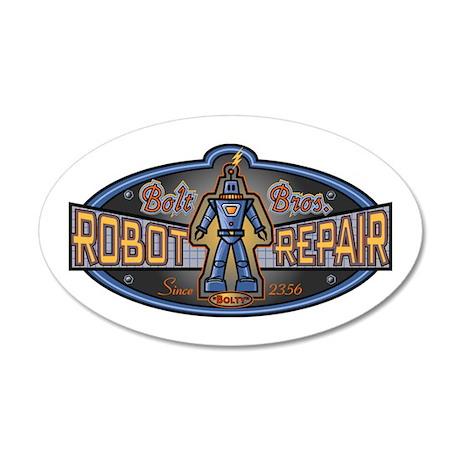 Bolt Bros. Robot Repair 20x12 Oval Wall Peel