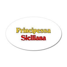 Principessa Siciliana 20x12 Oval Wall Peel