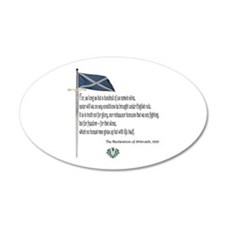 Declaration Of Arbroath 35x21 Oval Wall Peel
