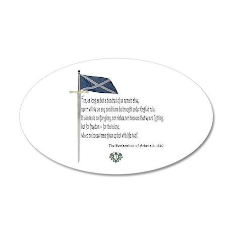 Declaration Of Arbroath 35x21 Oval Wall Peel