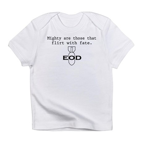 "SharpTee's ""EOD Fate"" Creeper Infant T-Shirt"