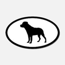 Rottweiler 20x12 Oval Wall Peel