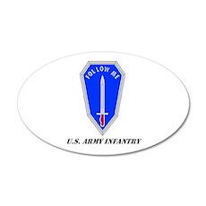 Infantry (Follow Me) School 20x12 Oval Wall Peel