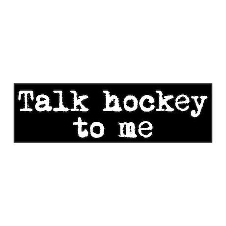 Talk hockey original 20x6 Wall Peel
