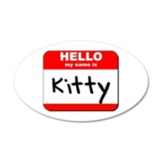 Hello my name is Kitty 20x12 Oval Wall Peel