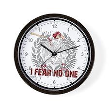 Baseball I Fear No One Wall Clock