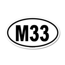 M33 20x12 Oval Wall Peel