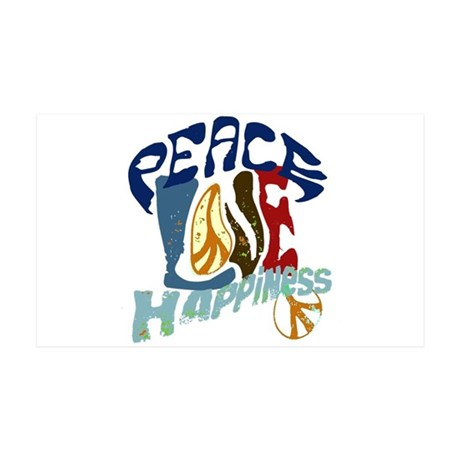 Peace Love and Happiness #P2 35x21 Wall Peel