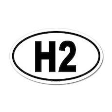 H2 20x12 Oval Wall Peel
