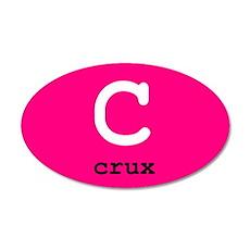 Crux 20x12 Oval Wall Peel