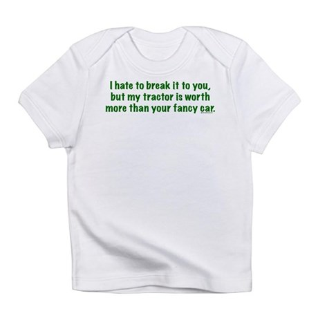 My tractor (green text) Infant T-Shirt